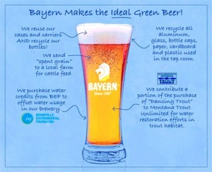 What goes into Bayern's Green Beer. (Courtesy of bayernbrewery.com.)