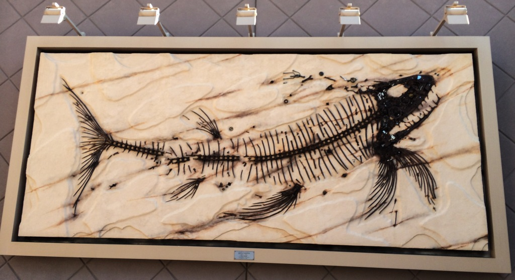 Fossil art displayed at the Colorado Mills Mall, Lakewood, CO