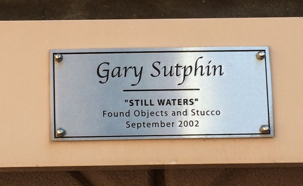 Informational plate on the display.