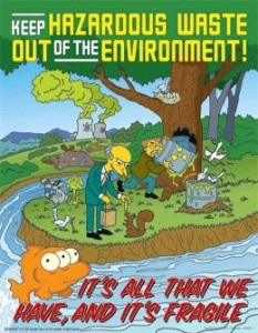 Simpsons Haz Waste Poster, via SafetyPoster.com