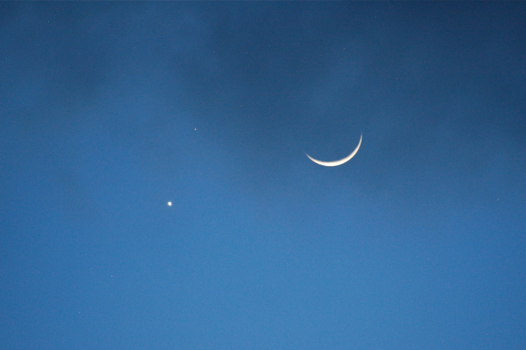 Venus, Mars, and moon photo that inspired this.
