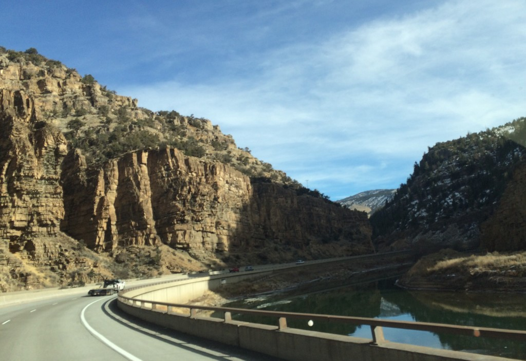 You wonder what would be more fun, cruising through the canyon at high speed or rafting down the river.