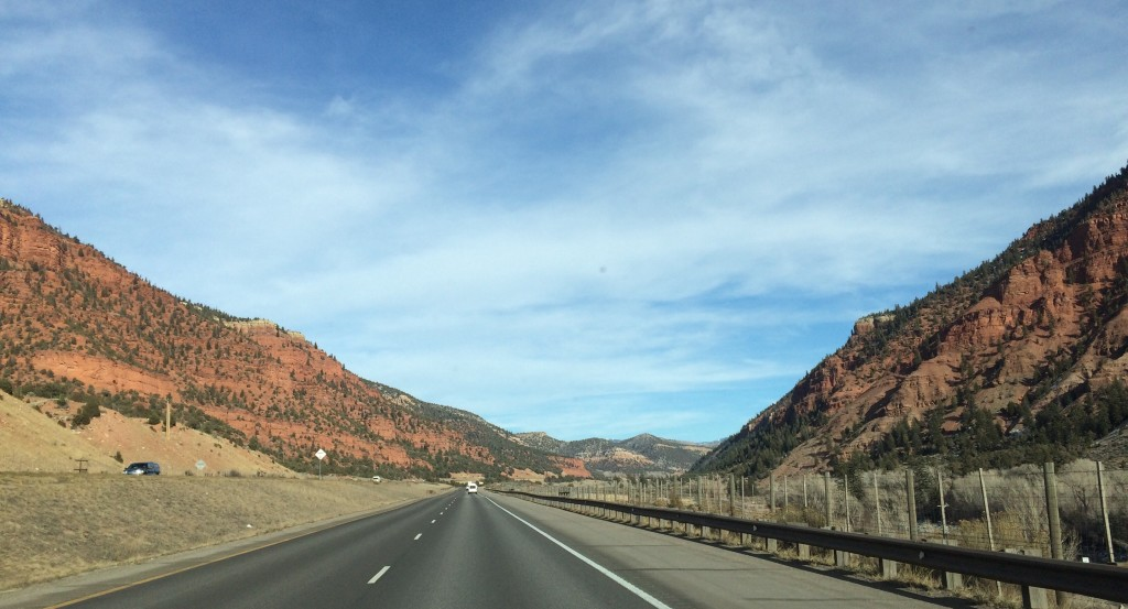 Exiting the canyon, going east. Keep driving and 10,600 ft Vail Pass awaits you.