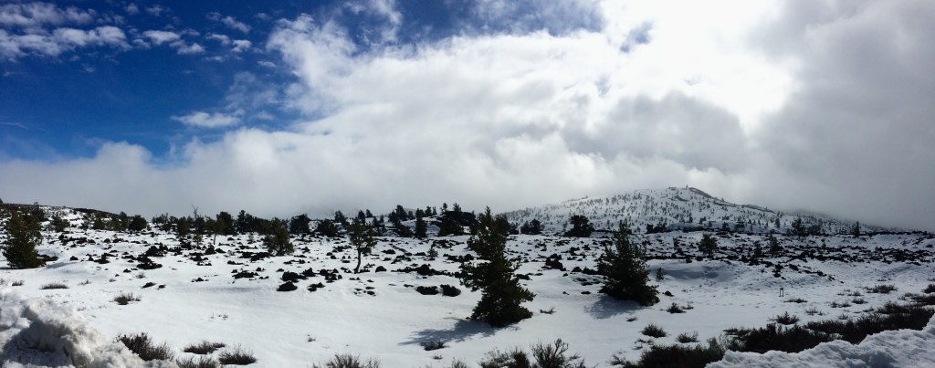 Craters of the Moon National Monument in winter.